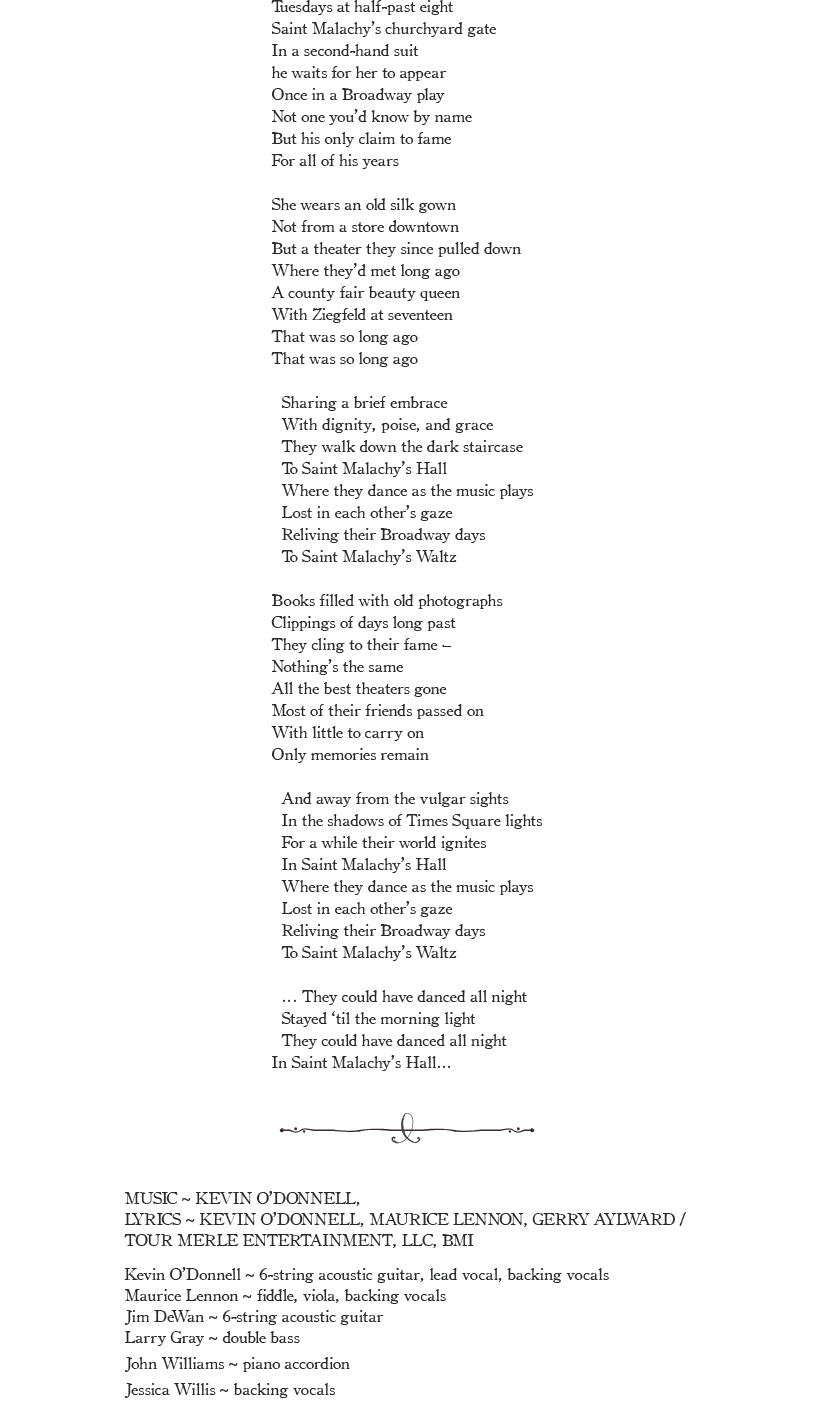 Saint Malachys Waltz Lyrics