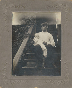 Maurice 'Darky' Fagan (b.1863 - d.1932) and Jackie Ryan Fagan taken 1891